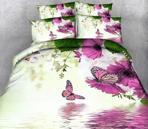 RONGXIE dekbedovertrek voor volledige grootte 3D beddengoed sets California king Pink Butterfly decoreren Twin Queen beddengoed kussensloop bedovertrek