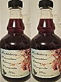Montana Maraschino Cherry Wild Huckleberry - Margarita Daiquiri Cocktail Mixer - 2/20 oz bottle Gift Set - Bounty Foods Presents a Wild West Drink Experience - Christmas - Cinco De Mayo (CHMIX2pk)