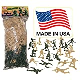 TimMee Plastic Army Men - Green vs Tan 100pc Toy Soldier Figures
