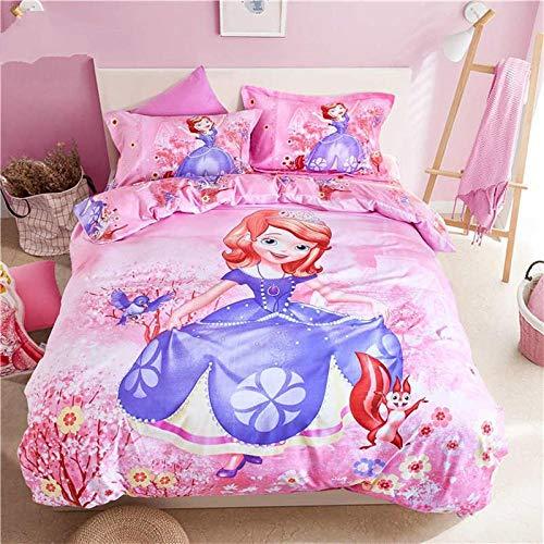Meesovs® Sängklädesset tecknad prinsessa flicka 3D-tryck påslakan 2 örngott 50 x 75 cm täcke sängkläder set med dragkedja 100 % mikrofiber singelsäng 135 x 200 cm jul barn påslakan