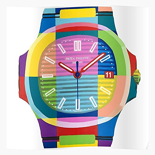 MADEWELL Biver Yellow Mondriaan Claude Jean Black White Red Chronograph Blue Das eindrucksvollste und stilvollste Poster für Innendekoration, das derzeit erhältlich ist