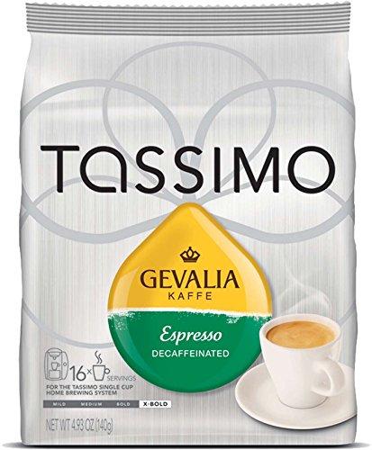 Gevalia Kaffe Decaffeinated Espresso for Tassimo brewers, 16 count (Pack of 2)