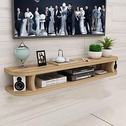 DGDF Mueble de TV montado en la pared, soporte de madera para TV, mesa de TV, estante de escritorio para el hogar y la oficina, fácil de montar, 100 x 22 x 15 cm