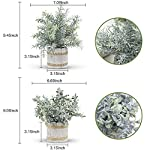 der rose 4 packs small fake plants artificial greenery potted plants for home decor indoor