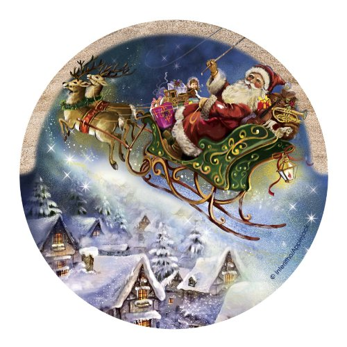 Thirstystone Drink Coaster Set, Santa's Sleigh