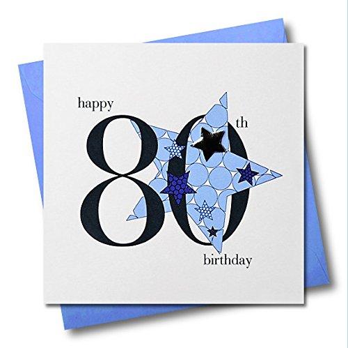 Claire Giles Hearts and Stars verjaardagskaart 80 jaar