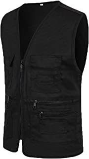 GAGA Mens Fishing Photography Journalist Vest Outdoor Multi-Pockets Casual Vest