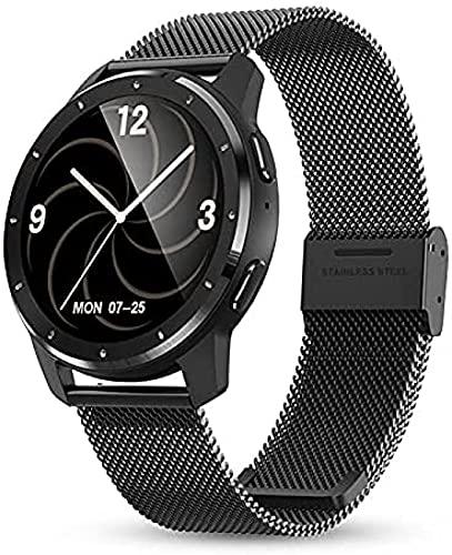 LLM 2021 Relojes inteligentes inteligente Fitness Tracker Smart Band Pulsera Presión arterial Frecuencia Cardíaca Smartwatch para Android IOS (B)