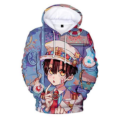 Toilet-Bound Hanako-kun Hoodie Cosplay Kostüm Erwachsene Kinder Anime Hanako-Kun Pullover Kapuzen-T-Shirt Yashiro Nene Hanako San Anime Langarm Sweatshirt