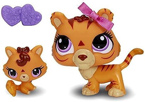 Littlest Pet Shop  3593 Tiger and  3594 Baby Tiger Pets by Littlest Pet Shop