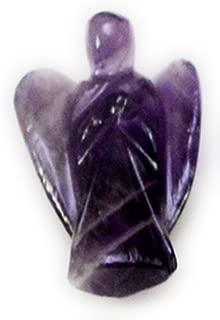 Amazing India Healing Amethyst Gemstone Carved Pocket Crystal Guardian Angel Figurines 1 inch (01)