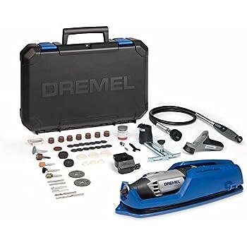 Dremel 4000 - Multiherramienta, 175 W, kit con eje flexible, 65 accesorios y 4 complementos, velocidad variable 5.000 - 35.000 rpm para tallar, grabar, fresar, amolar, limpiar, pulir, cortar y lijar