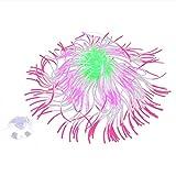TBNB Decoración de Acuario Coral Artificial de Acuario, pecera de Silicona Decoraciones de Plantas subacuáticas Anémona Luminosa de Alta simulación vívida para decoración de Paisaje de