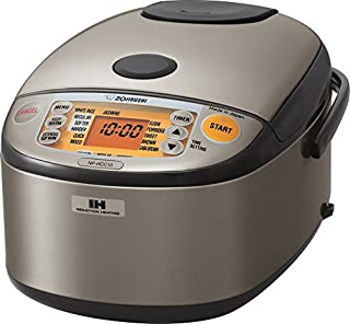 ZOJI Zojirushi NP-HCC10XH Induction Heating System Rice Cooker and Warmer, 1 L, Stainless Dark Gray (B00VAG84O2) | Amazon price tracker / tracking, Amazon price history charts, Amazon price watches, Amazon price drop alerts