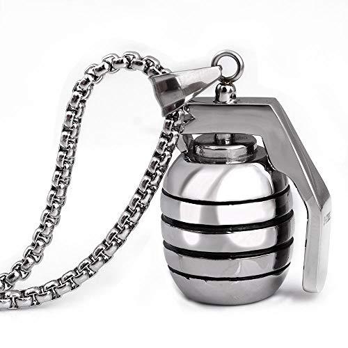 FTYYSWL Titanium Steel Jewelry Grenade Pendant Necklace