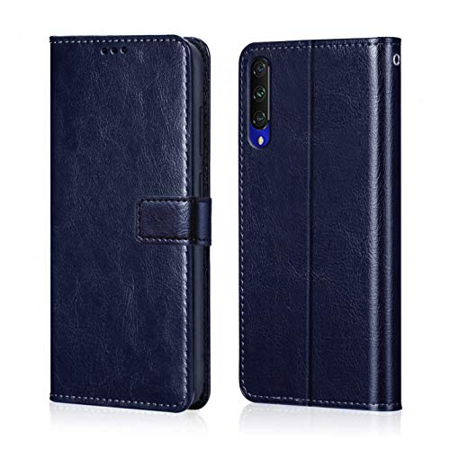 WOW Imagine MI A3 Flip Case Leather Finish | Inside TPU with Card Pockets | Wallet Stand | Shock Proof...