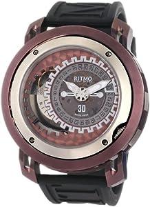 Ritmo Mundo Men's 202/2 Brown Persepolis Dual-Time Exhibition Automatic Watch image