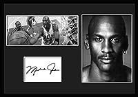 10種類! マイケル・ジョーダン/Michael Jordan /サインプリント&証明書付きフレーム/BW/モノクロ/ディスプレイ/3W (02) [並行輸入品]