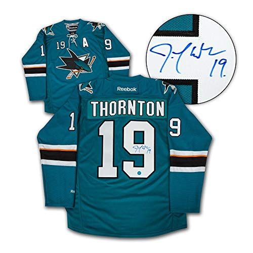Joe Thornton San Jose Sharks Autographed Signed Reebok Premier Hockey Jersey