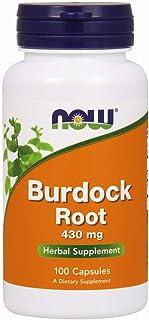 NOW Supplements, Burdock Root (Arctium lappa) 430 mg, Herbal Supplement, 100 Veg Capsules