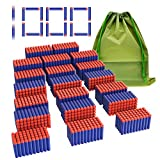 Coodoo Compatible Darts 1000 PCS Refill Pack Bullets for Nerf N-Strike Elite Series Blasters Toy Gun - Blue with Storage Bag