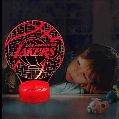 Laker - Lámpara 3D para decoración de habitación con luz LED 3D, 16 cambios, color