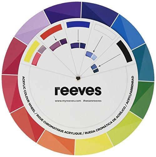 """Reeves 7650831 \"""" Acrylic\"""" Acryl Farbkreis Farbwählrad aus Kunststoff"""