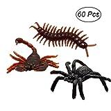 TOYMYTOY Kunststoff Insekten Skorpion Spinne Tausendfüßler Spielzeug für Kinder Party Mitgebsel...