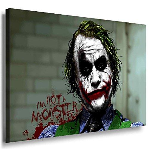 I am not a monster Joker Leinwandbild / LaraArt Bilder / Mehrfarbig + Kunstdruck f04 Wandbild 60 x 40 cm