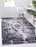 """Pile: Polypropylene - Backing: Cotton - Weave: Machine Woven (Power Loomed) - Made In: Turkey Size in FT: 6' 0 x 9' 0 - Size in CM: 185 x 275 - Pile Height & Thickness: 1/6"""" - Colors: Gray, Black, Ivory Easy-to-clean, stain resistant, and does not sh..."""