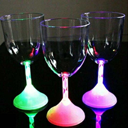 Kicode Créatif Led clignotant Rouge Coupe du vin Couleur lumière changeante Bar KTV eau Verre CUPS Cocktail