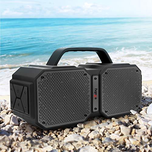 Wireless Outdoor Bluetooth Speaker - Splashproof, Shockproof & Heat-Resistant - Rechargeable Battery for 8 Hours Play Time - Loud HD Sound - 2 Speakers, 2 Tweeters & 2 Bass Valves