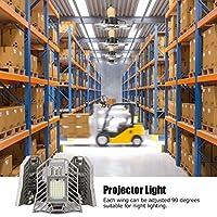 調整可能な角度のプロジェクターライト、変形可能な設計のLEDガレージライト劇場の倉庫には配線は必要ありません