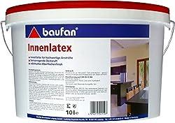 Baufan Innenlatex latex paint matt white scrub resistant 10l