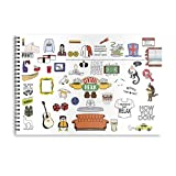 MC SID RAZZ Friends TV Series Doodle Sketch Book Sketchpad for Artist Girlfriends