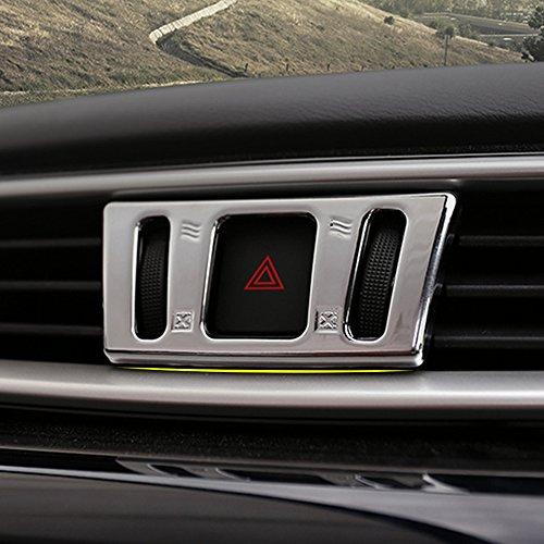 NA ABS Cromo Mate Consola Central Salida de Aire Cubierta de Salida automotriz para Nissan X-Trail Xtrail X Trail T32 2013+ Qashqai J11 2014-2018