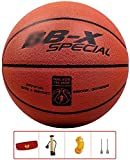 ZHOU.D.1 Basketball- Standard Basketball Indoor and Outdoor No. 7 Basketball Size 9.7 Inches (24.6cm), with Pump and Sports Headband (Color : E)