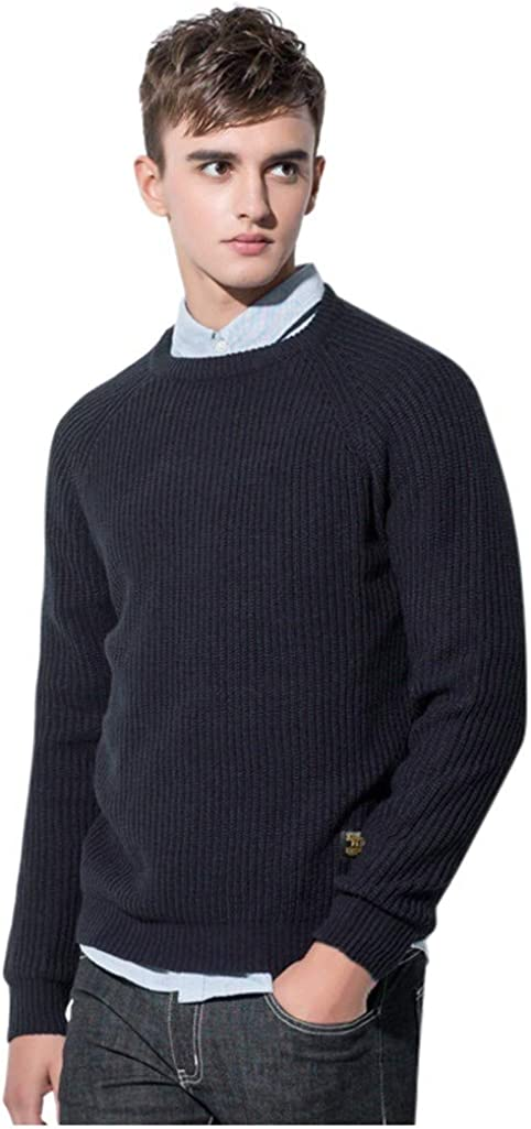 Wool Sweaters Men, NRUTUP Cool Sweaters Fit Pullover Sweater, Plain Chunky Knit Sweater, Winter Sweater Casual Work