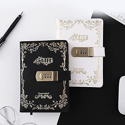 MALAT A5 B6 Notebook con Password Retro con Blocco Notebook in Pelle Pu Lock Diary Traveler Notepad Journal Planner Cancelleria Scolastica
