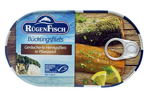Rügen Fisch Bücklingsfilet in Öl, 19er Pack (19 x 200 g)