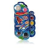 Keyroad Farbkasten 12er + 4 Bonusfarben | 16 Deckfarben mit Pinsel | Deckfarbkasten perfekt für Kindergarten, Schule und zu Hause