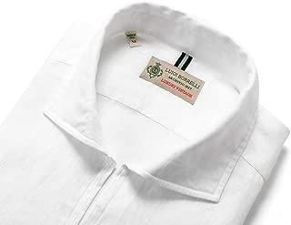 ルイジボレッリ ルイジボレリ LUIGI BORRELLI / 20SS!製品洗いリネンポプリン無地カプリシャツ「BACIATO(9129)」 (ホワイト) メンズ