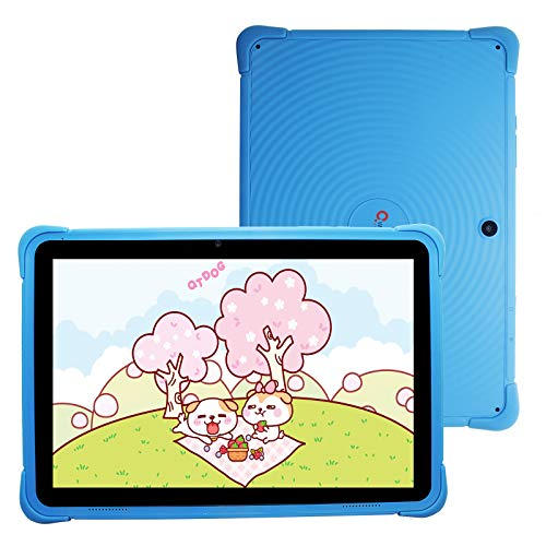 Kids Tablet 10 Inch, 3G Phone Tablets for Children, Android 10 Tablet 32GB ROM, 2GB RAM, 1280x800 HD IPS Display, WiFi Android Tablet for Toddlers, Kid-Proof Case, Blue