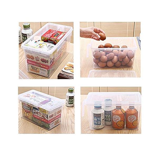 MineSpace – Juego de 4 cajas de almacenamiento de plástico con asa