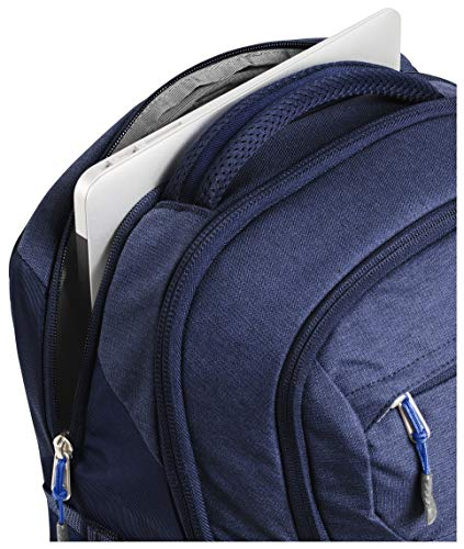 The North Face Women's Recon Backpack, Montague Blue Light Heather/TNF Blue, One Size