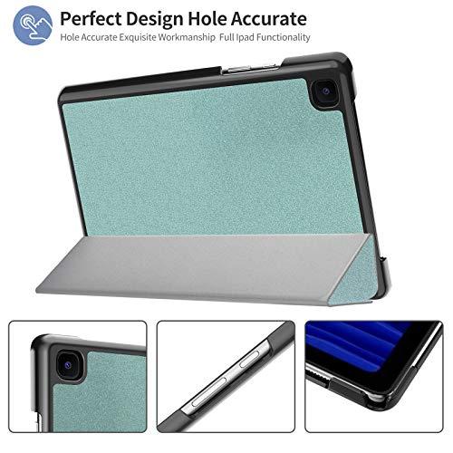IVSO Hülle Kompatibel mit Samsung Galaxy Tab A7 10.4 2020,Mit Panzerglas, Slim Hochwertiges PU Schutzhülle mit Displayschutz Kompatibel mit Samsung Galaxy Tab A7 T505/T500/T507 10.4 Zoll 2020, Grün