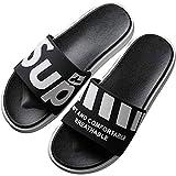 Shower Comfort Dusch Badeschuhe,Mens Outdoor Sandals Flip Flops, Summer Fashion Slide Slippers, Beach Bath/Pool cool Shoes,Light Movement House Mule-Black-1_43-44