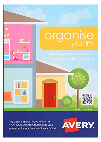 Avery S0642 Organise Your Home Label Pack, 4 Label products per pack, Pack of 42 label sheets