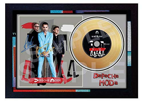 SGH SERVICES Depeche Mode Spirit Mini Gold Vinyl CD signiert gerahmt Foto