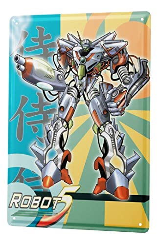 LEotiE SINCE 2004 Plaque en Métal Métallique Poster Mural tin Sign Cartoon Art Amusant Manga Japon Robots Metal Plates 20X30 cm